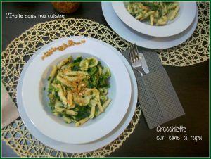 Recette Orecchiette aux pousses de navet, plat typique des Pouilles