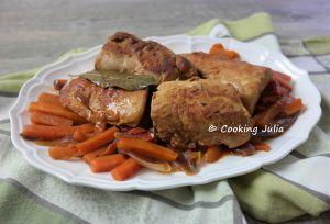 Recette Filet mignon de porc aux carottes