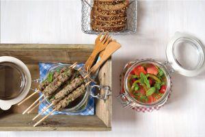 Recette Mini Brochettes de Kefta & Salade Juive