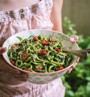 Recette Salade de courgette et sauce «déesse verte» (Spiralizer pour KitchenAid)
