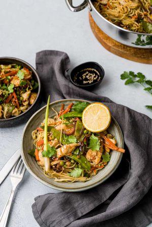Recette Wok de poulet & petits légumes