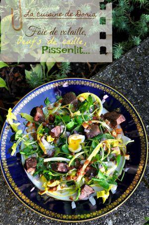 Recette Salade de pissenlits aux foies de volaille et estragon