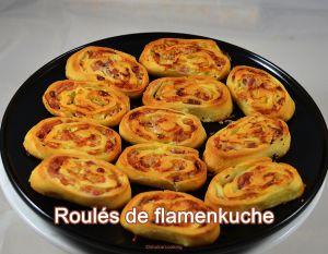 Recette Roulés de flamenkuche pour l'apéro
