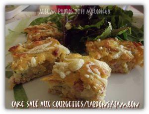Recette Cake aux courgettes, lardons et jambon