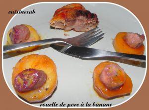 Recette Rouelle de porc à la banane