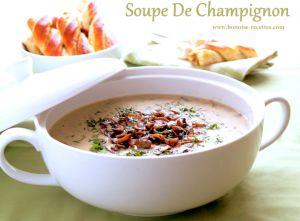 Recette Soupe aux champignons / soupe de champignons