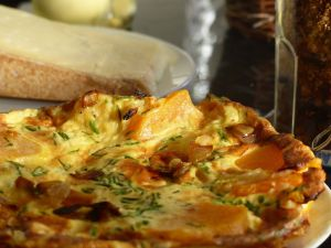 Recette Frittata aux oignons et potiron