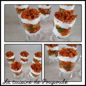 Recette Verrines printanières aux poivrons