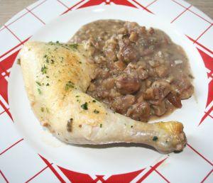Recette Cuisse de poulet aux marrons