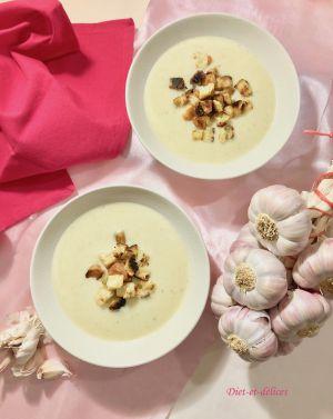 Recette Soupe à l'ail rose de Lautrec