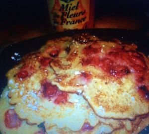 Recette Pancakes aux fraises