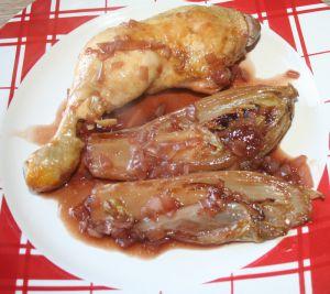Recette Cuisse de poulet et endives à la kriek