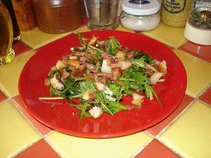 Recette Salade de Pissenlits aux Croutons et Lardons