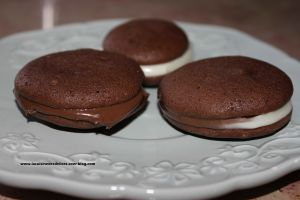 Recette Whoopies au chocolat et pate a tartiner