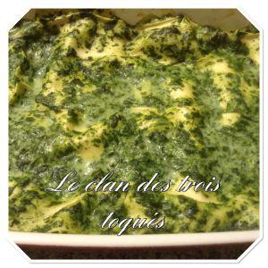 Recette Lasagne aux épinards et chèvre