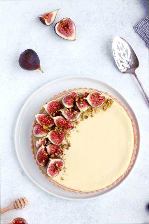 Recette Tarte cheesecake aux figues, chèvre et miel