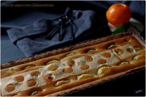 Recette Tarte à la crème de marrons et aux clémentines