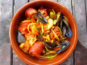 Recette Comme une fideuà au chorizo et fruits de mer