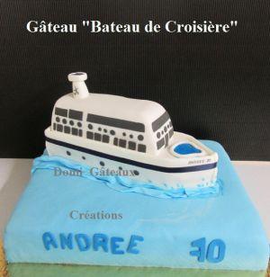 """Recette Gâteau """"Bateau de Croisière"""" en Pâte à Sucre"""