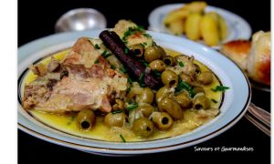 Recette Tajine ezeitoun (zitoun) Poulet aux olives