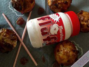 Recette Muffin au Fluff fraise et fraises déshydratées