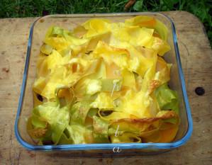 Recette Gratin de pappardelles à la courge butternut et aux haricots noirs