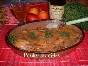 Recette Cuisse de poulet au cidre