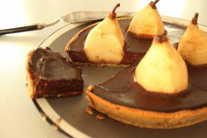 Recette Tarte au chocolat et aux poires