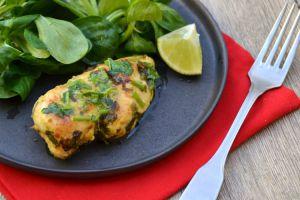 Recette Poulet mariné coriandre et citron vert