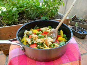 Recette Poulet aux trois poivrons - recette de poulet aux poivrons