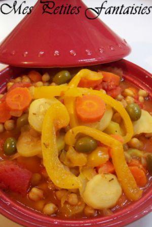 Recette Tajine aux légumes