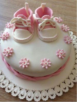 Recette Gâteau chaussures bébé pâte a sucre