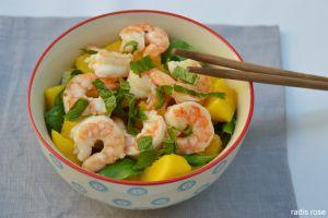 Recette Salade mangue avocat crevette
