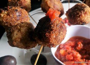 Recette Sucettes/croquettes apéritif à la viande et au parmesan