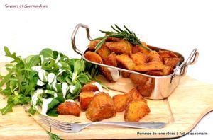 Recette Pommes de terre rôties à l'ail et au romarin