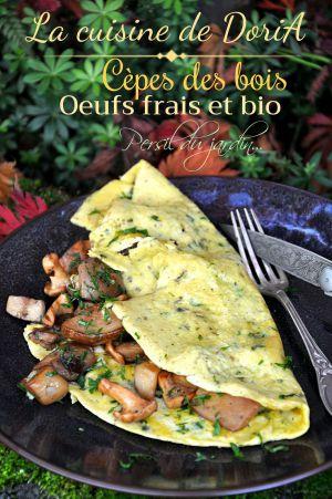 Recette Omelette aux cèpes et pieds de mouton