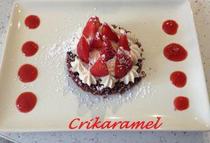 Recette Tartelettes aux fraises...Non, génoisette aux fraises