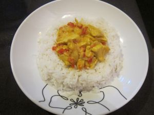 Recette Poulet sauce curry