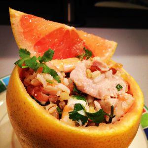 Recette Pamplemousse et fruits de mer