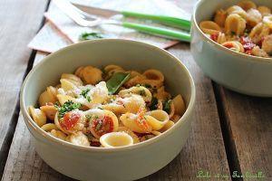 Recette Pâtes aux tomates rôties & basilic