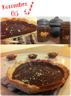 Recette Tarte à la confiture de noix et au chocolat