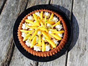 Recette Tarte renversée à la mangue, chantilly coco