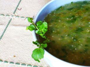 Recette Watercress soup - La soupe de cresson