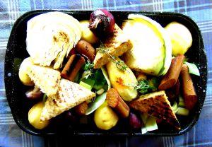 Recette Braisé de légumes d'hiver avec tempeh et saucisse végétale