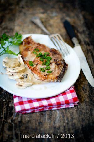 Recette Côtes de veau aux champignons