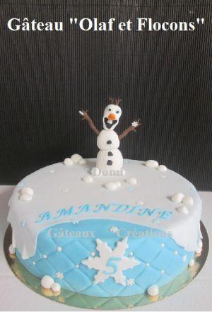 """Recette Gâteau """"Olaf et Flocons"""" en Pâte à Sucre"""
