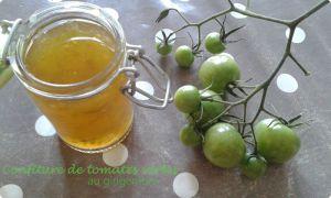 Recette Confitures de tomates vertes au gingembre