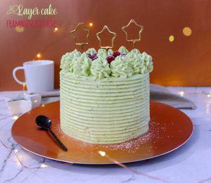 Recette Layer cake pistache framboise