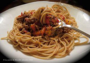 Recette Sauce à spaghetti d'hiver express +