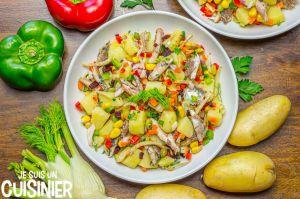 Recette Salade de pommes de terre aux sardines et fenouil